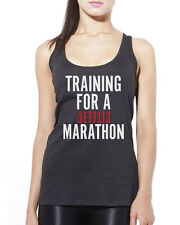 Training for a Netflix Marathon Tv Show Chill Womens Vest Tank Top Many Sizes