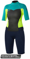 Roxy Syncro Springsuit Womens Wetsuit 2mm - Blue/Yellow/Turquoise