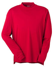 New Adidas Golf Mens Climalite Tech Long Sleeve Mock Shirt Red M