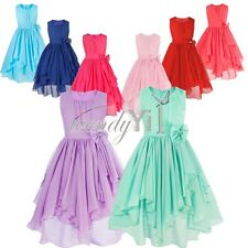 Flower Girl's Princess Party Princess Wedding Kids Birthday Formal Chiffon Dress