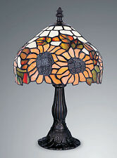 TIFFANY STYLE UNIQUE STAINED GLASS DESK TABLE LAMP - 14.17'' WIDE,