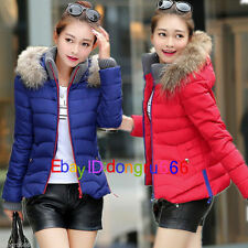 New winter women short section down cotton jacket, hooded warm Coat + fur collar