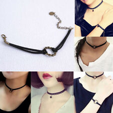 Hot Gothic Black Lace Choker Collar Necklace Jewelry Pendant Bracelet Necklace