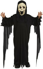 Childs Demon Scream Ghost Style Halloween Horror Costume Age 4 - 12