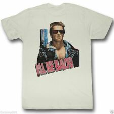 T-Shirts Sizes S-2XL New Mens Ill Be Back Digital Terminator T Shirt Arnold