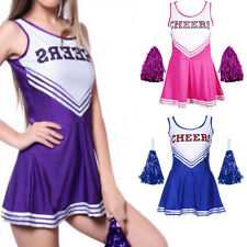 Fashion Cheerleader Sports Uniform School Girl Women Fancy Dress Costume Outfit