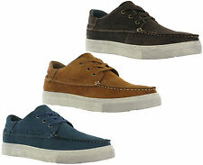 Leather Boat Loafer Deck 3 Eye Mens Padded Flat Casual Fashion Trainer Shoes