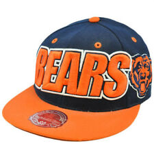 NFL Mitchell Ness Throwback Logo Retro Wordmark Fit Cap Hat TT48 Chicago Bears