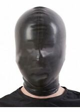 Latex CHLORINATED Hood/Mask Open NOSE ONLY / BLACK / 3 SIZES / 109n-c
