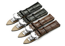 18-22mm Handmade Genuine Leather Watch Band Deployant Clasp Strap For Tissot