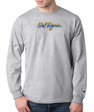 West Virginia Mountaineers SCRIPT Champion LONG SLEEVE T-Shirt Tagless T Shirt