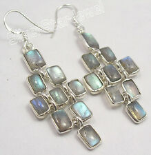 925 Silver Labradorite, Tiger's Eye, Carnelian & Other Stones Variation Earrings