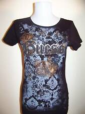 NEW WITH TAG GUESS GOLD CROWN BLACK TEE LQQK