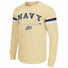 Navy Midshipmen Colosseum Huddle Up Long Sleeve T-Shirt - Gold - College