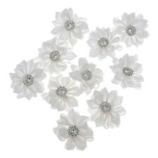 10pcs Multi-color 3.5cm Satin Ribbon Flower Bridal DIY Decoration Appliques