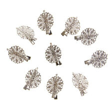 Pack of 10 Vintage Hair Clips Pins Retro Grips Slides Hair Barrettes Flower