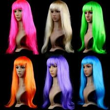 Chic Colorful Vogue Lady Girls Long Straight Wigs Cosplay Party Synthetic Wigs