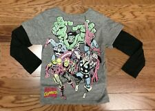 New Authentic Mighty Fine Boys Marvel Comics Color and Black & White 2fer Shirt