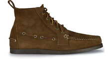 $395 Polo Ralph Lauren Mens Tahoma Dark Brown Chukka Leather Suede Ankle Boots