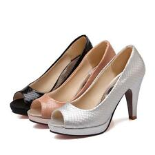 Sexy womens heels wedding party Peeptoe office dress shoes pumps SiZe US4-11