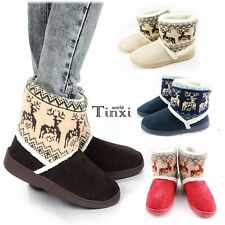 4 Colors Winter Women's Warm Snow Boots Shoes Thicken Calf  Warm Boots TXWD
