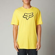 NEW FOX RACING MENS LEGACY FOX HEAD SS TEE YELLOW SHORT SLEEVE S/S T SHIRT