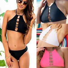 2016 New Sexy Womens Swimwear Bikini Set Push-up Padded Bra Swimsuit Bathing FO
