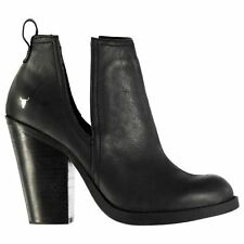 Windsor Smith Womens Shelter Ankle Boots Shoes Block Heels Leather