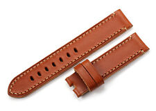 20mm 22mm Honey Brown Genuine Leather Watch Bands Strap For Panerai Timex Watch