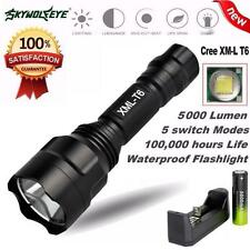 5000Lm C8 CREE XM-L T6 LED 18650 Flashlight 5 Mode Torch Tactical Light Lamp