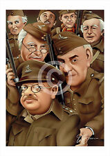 DADS ARMY artwork print caricature A3/A4 sizes signed art