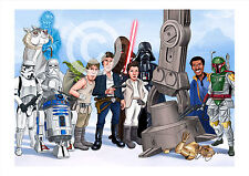 STAR WARS artwork print caricature Episode 5 A3/A4 sizes signed