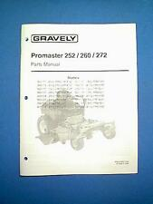 GRAVELY PROMASTER MODELS 252 / 260 / 272 25HP - 27HP  PARTS MANUAL
