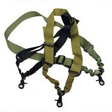 Tactical Single one 1 Point Sling Rifle Gun Sling Bungee - Adjustable Portable