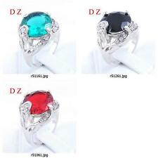 r510m19 Size Pick Women's Wedding Engagement Gemstone Zircon CZ Finger Ring Free