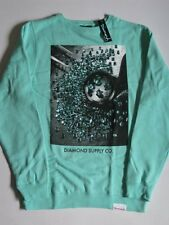 Gem Quality Teal Blue Crew Sweater DIAMOND SUPPLY Co Company Crewneck Mens XL