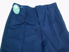 NWT Greg Norman polyester golf shorts, men's size 34, black, $55 value, shark