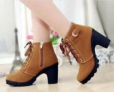Hot Sale Women Zipper Lace Up Lady High Heel Shoes Ankle Motorcycle Boot