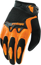 THOR MX MENS ADULT MX ATV RIDING ORANGE BLACK SPECTRUM RACE GLOVES RACING ENDURO