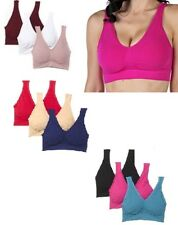 Rhonda Shear Cotton Blend 3 Pack Bras with Pads