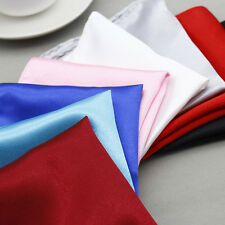 Men Formal Solid Silk Suit Pocket Square Handkerchief Kerchief Towel Hanky