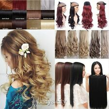 Pro Half Full Head Straight Curly Wavy Ombre Clip in Hair Extensions Bangs Tb1