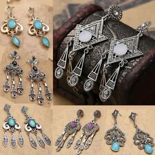 Party Queen Bohemian Style Vintage Drop Chandelier Dangle Long Beaded Earrings