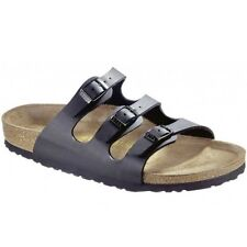 Birkenstock FLORIDA Ladies Womens Buckle Birko-Flor Summer Beach Sandals Black