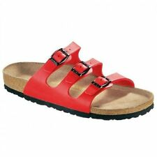 Birkenstock FLORIDA Ladies Womens Triple Buckle Birko-Flor Summer Sandals Cherry