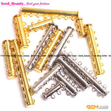 Tube Gold-plated Jewelry Making Clasps, 2-8 Strands Low Magnetic Clasps