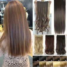 1 Piece Half Full Head Clip In Hair Extensions Straight Wavy Curly as Remy T56