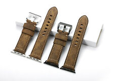 Apple Watch 24mm Genuine Calfskin Leather Wristband Watch Strap For iWatch 42mm