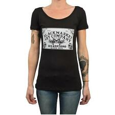 Ouija Board by Josh Stebbins Women's Black Tee Shirt Fortune Teller Skull