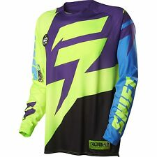 MENS GUYS SHIFT RACING MX ATV RIDING FACTION PURPLE YELLOW JERSEY SHIRT OFFROAD